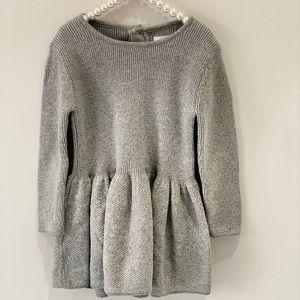 Joe fresh, fit & flare silver knit party dress.